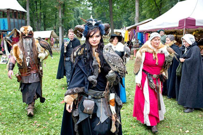 falconer at Festival-Mediaval