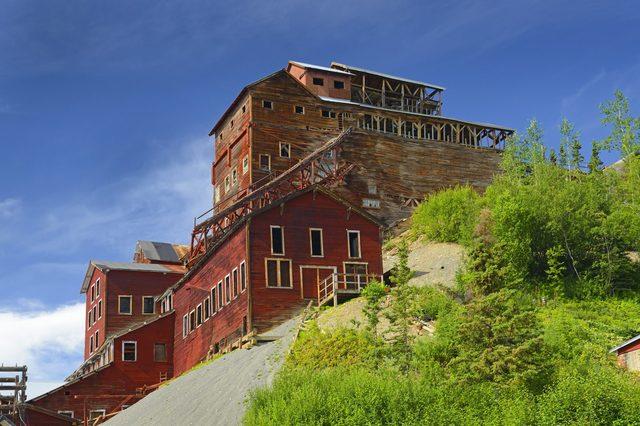 Old Kennecott copper Mine, Wrangell-St.Elias Elias National Park, Alaska, UNESCO World Heritage Site