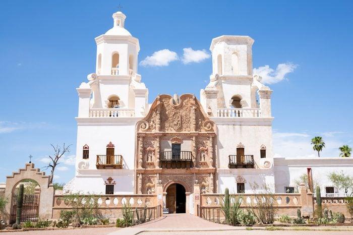 San Xavier del Bac church in Arizona, Tucson, USA
