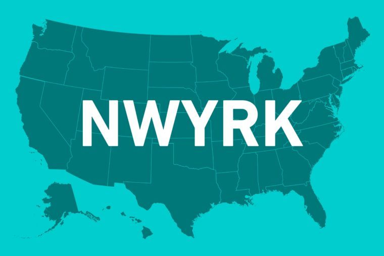 states without vowels new york
