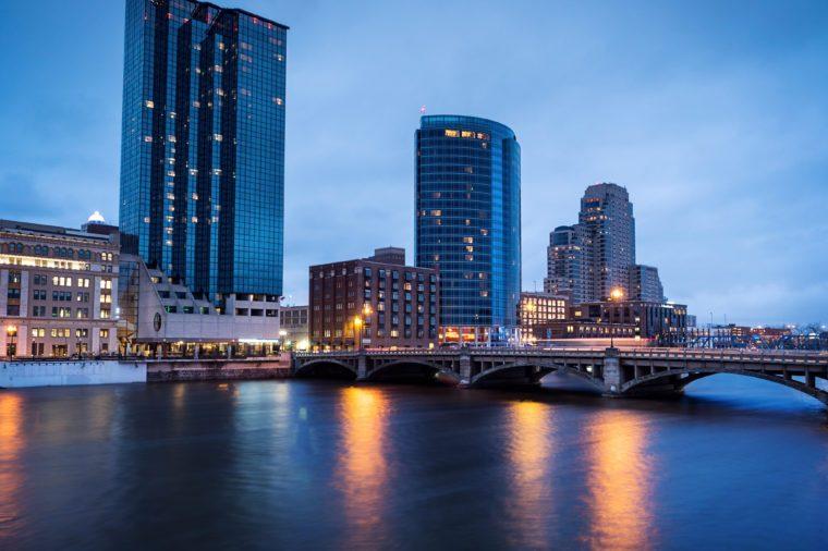Sunset in Grand Rapids Michigan
