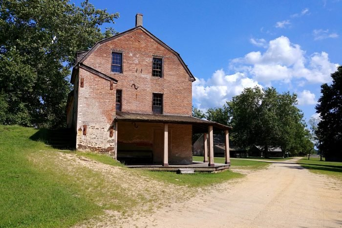 The grist mill at Batsto Village in the Pine Barrens of New Jersey