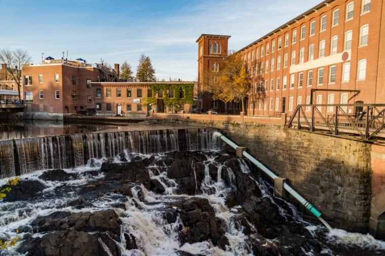 The old mill at Dover in New Hampshire, New England USA