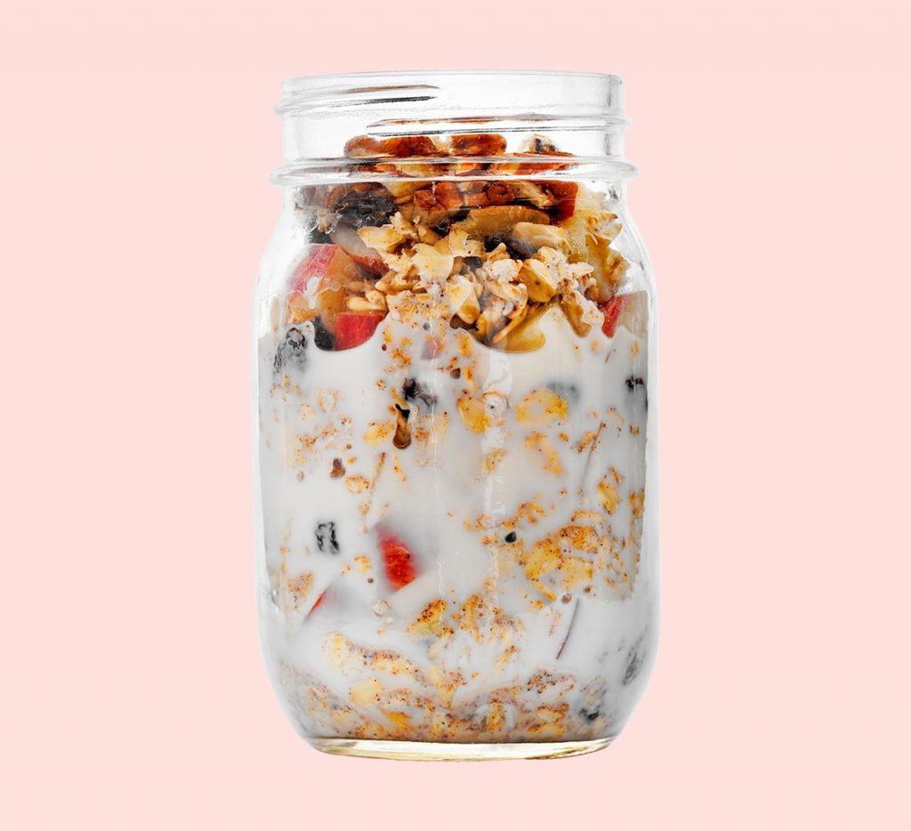 Apple-Cinnamon Overnight Oats Oatmeal