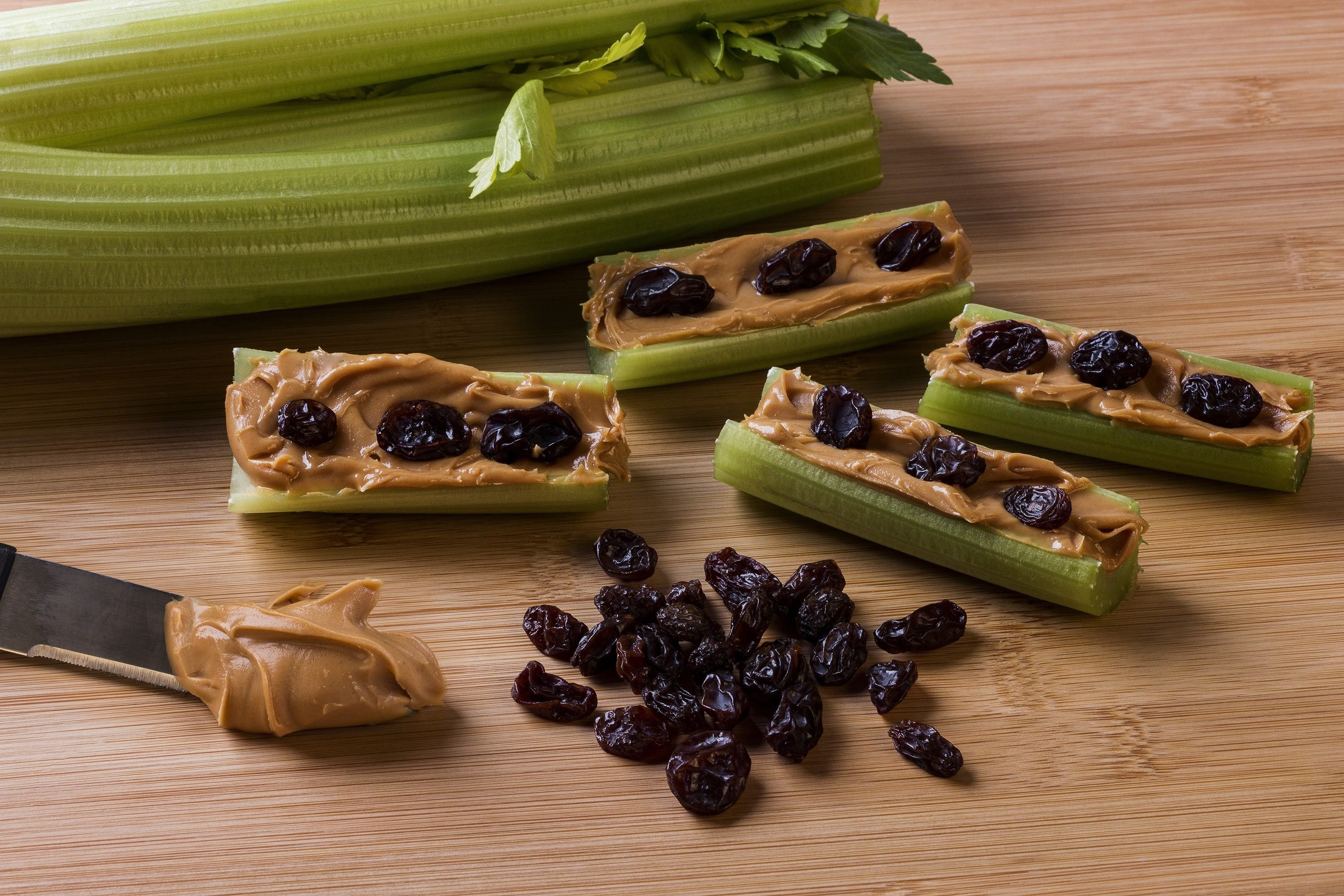 Childhood snack called Ants on a log.