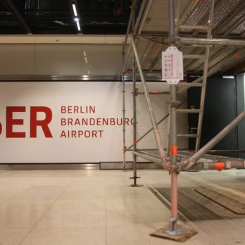 berlin bradenburg airport amidst construction