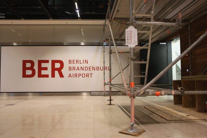 berlin bradenburg airport amidst construction
