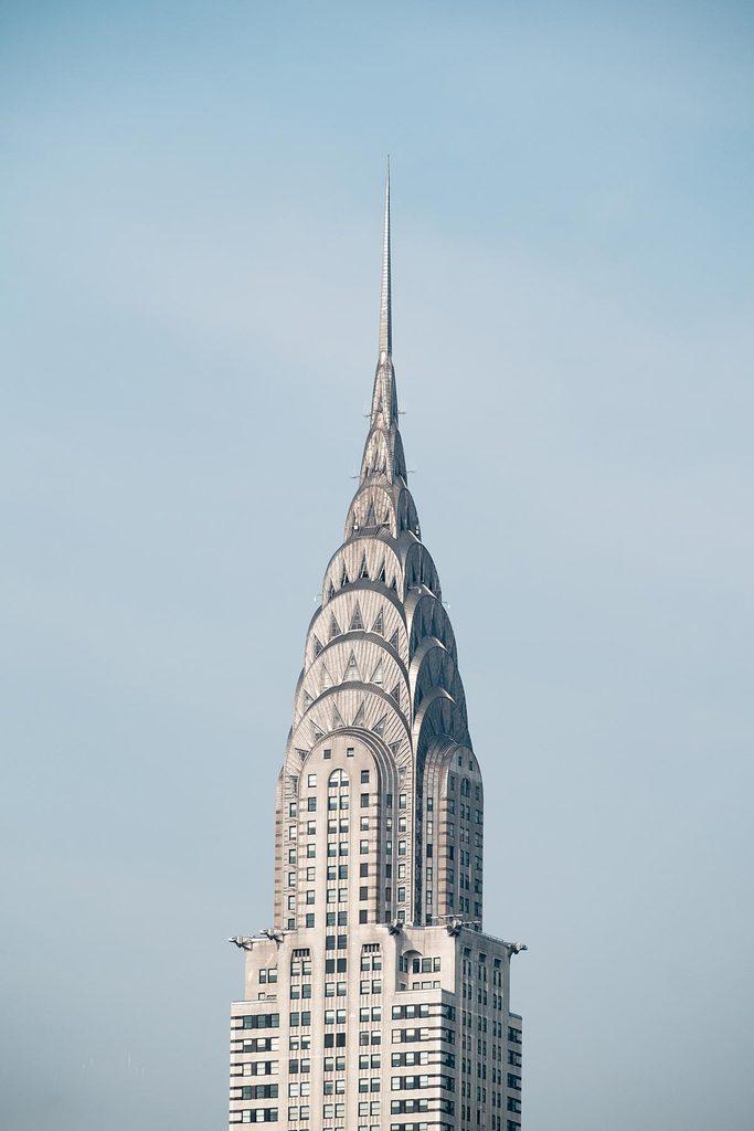 Chrysler Building silver metal spire - September 2, 2015, 42nd Street, New York City, NY, USA