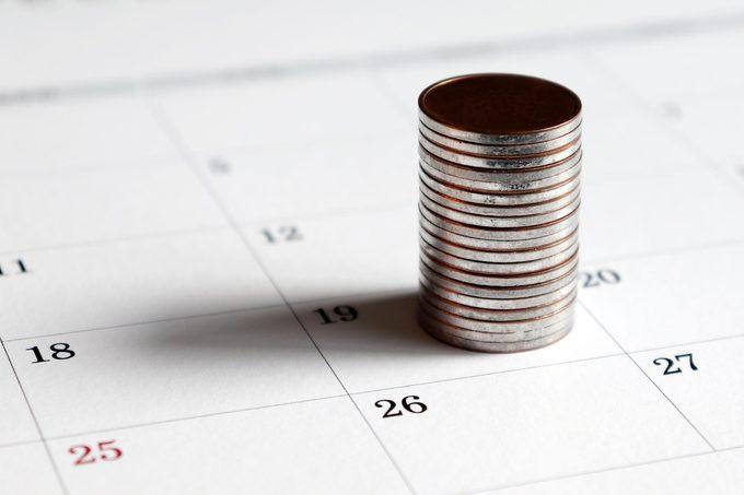 coins calendar