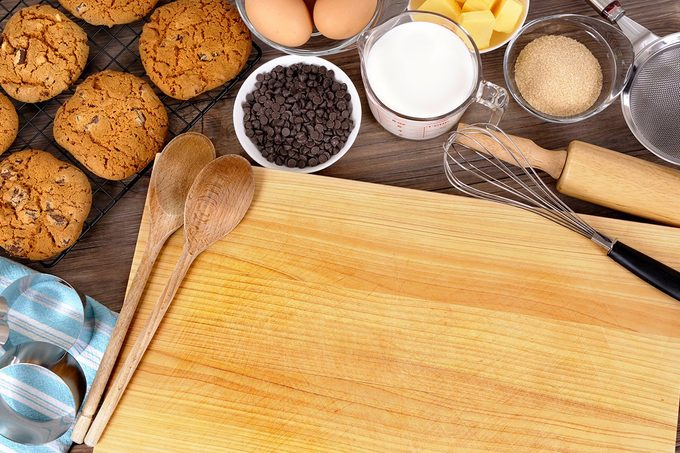 Cookie baking, ingredient, kitchen worktop