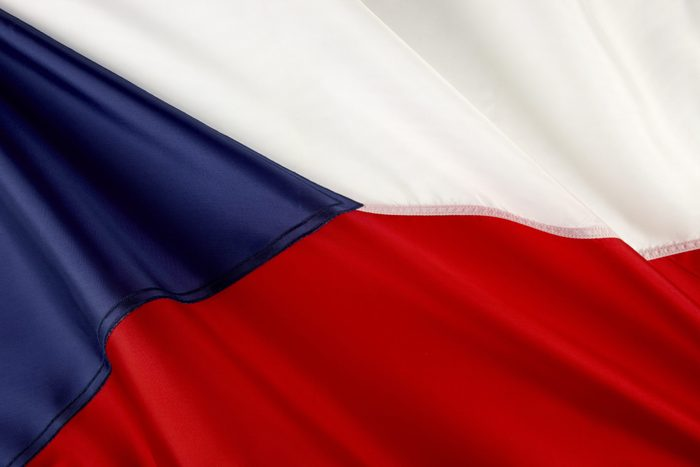 Close up shot of Czech flag