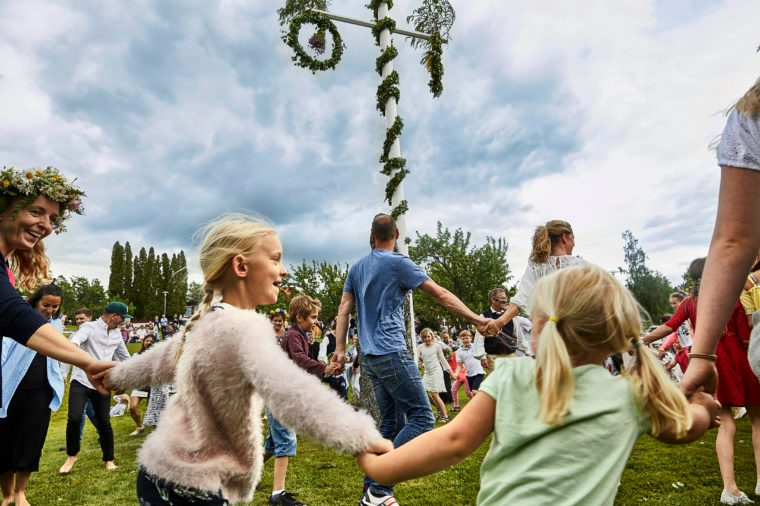 Midsummer's Eve festival in Leksand