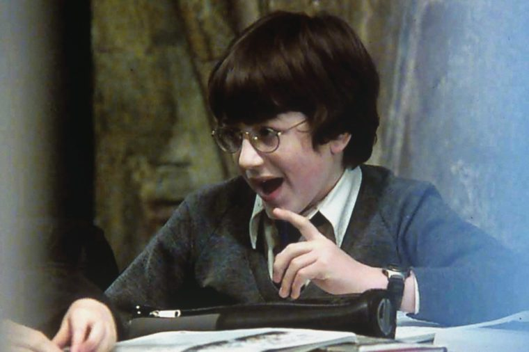 DANIEL RADCLIFFE FILMING OF 'HARRY POTTER AND THE SORCERER'S STONE