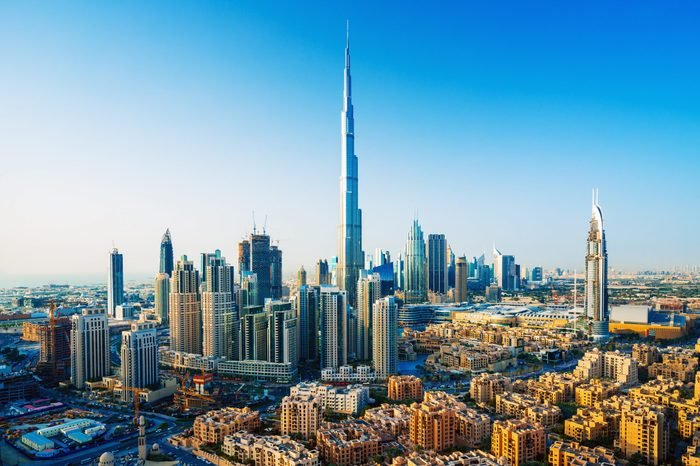 Amazing view on Dubai downtown skyscrapers, Dubai, United Arab Emirates