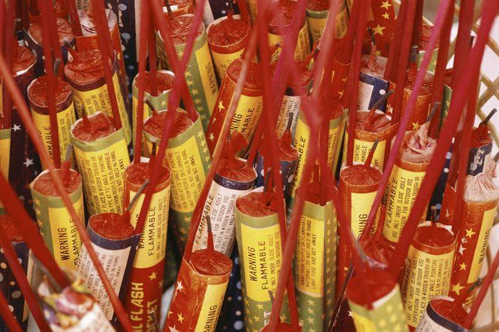 4th of July, box of bottle rockets