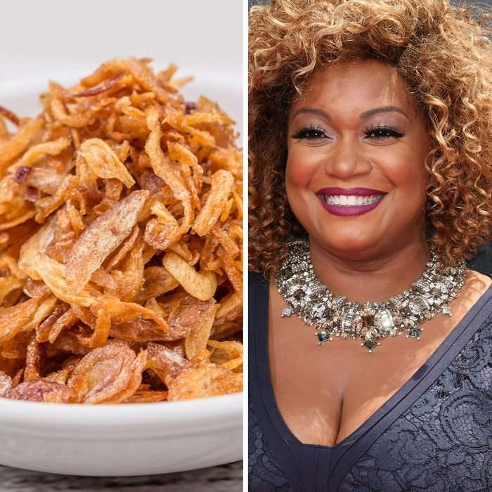 Deep fried shallots for garnishing in white bowl over wooden background; Shutterstock ID 300883943; Job (TFH, TOH, RD, BNB, CWM, CM): TOH LOS ANGELES - APR 26: Sunny Anderson at the 2015 Daytime Emmy Awards at the Warner Brothers Studio Lot on April 26, 2015 in Burbank, CA; Shutterstock ID 273170474; Job (TFH, TOH, RD, BNB, CWM, CM): TOH