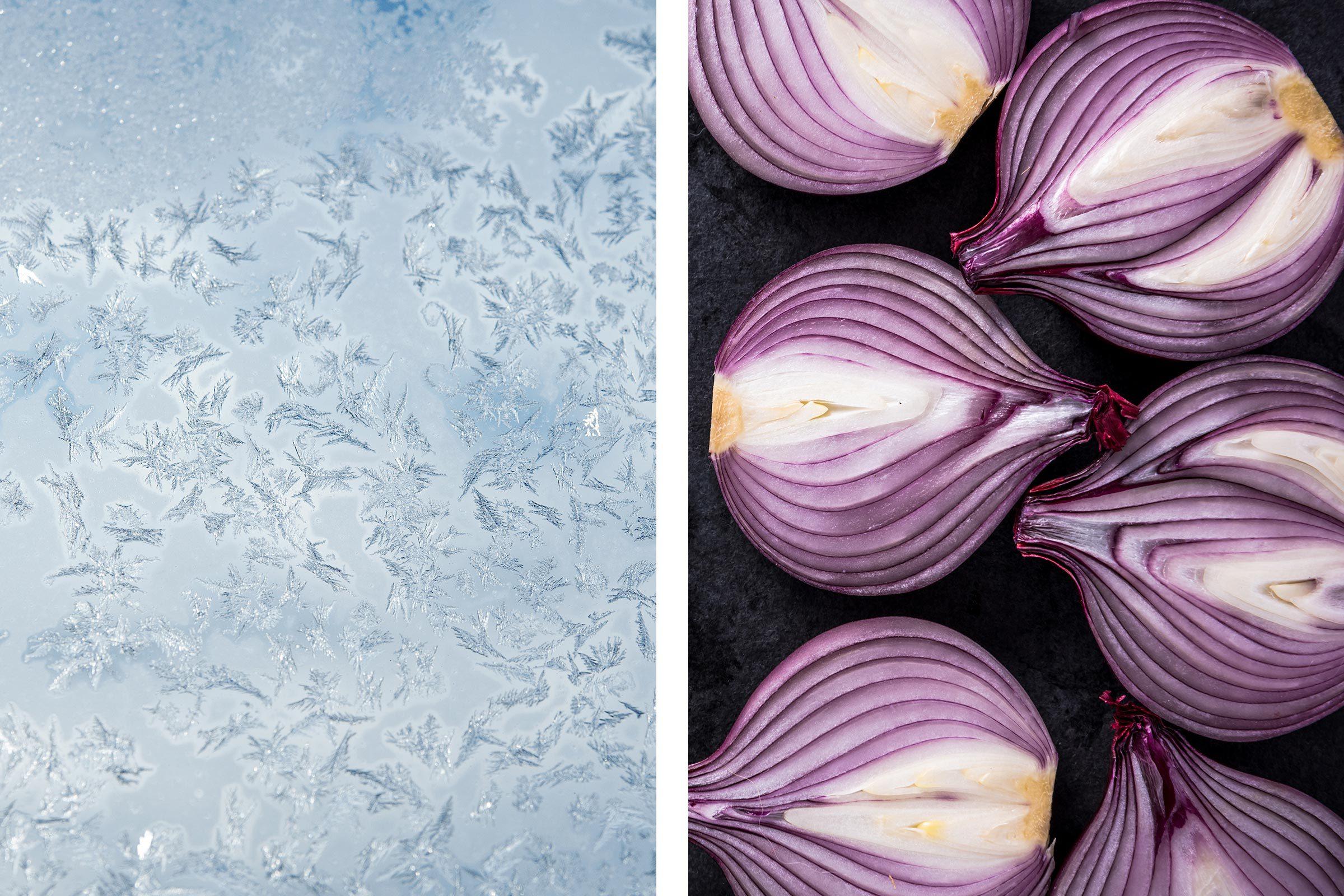 onions frost window