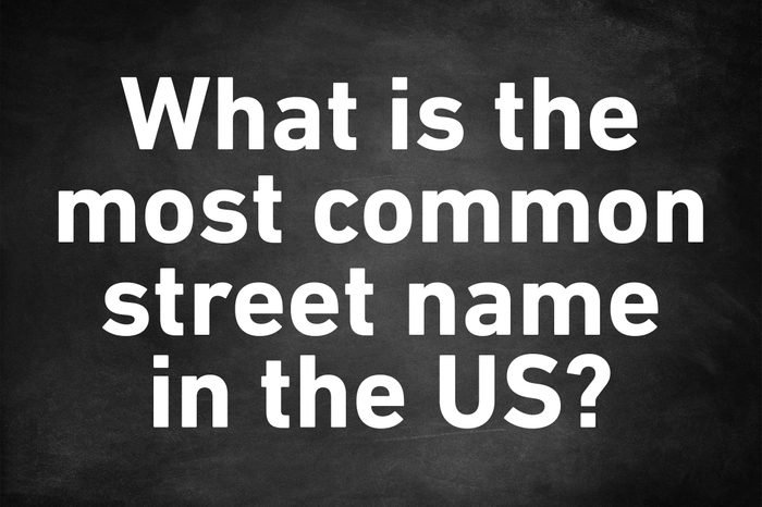 genius trivia question most common street name