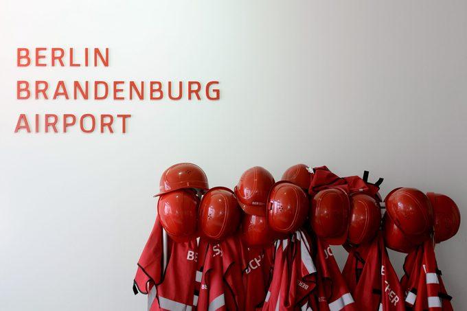 Red Protection Helmets berlin bradenburg airport