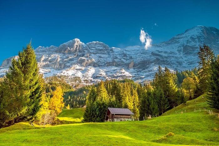 Mountain Hut below the Eiger in Grindelwald, Switzerland