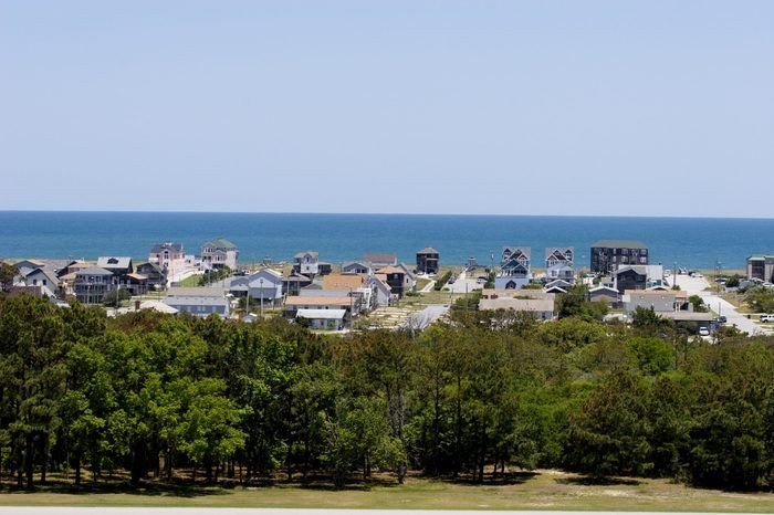 View from the Wright Brothers Monument Overlooking Kitty Hawk in the Outer Banks of North Carolina