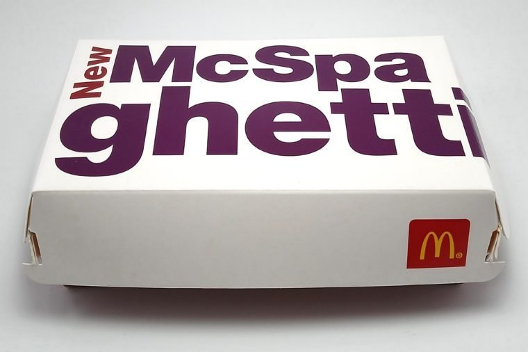MANILA, PH - JAN. 8: McDonald's McSpaghetti meal on January 8, 2019 in Manila, Philippines. McDonald's brand is a fast food chain with branches worldwide based in USA.