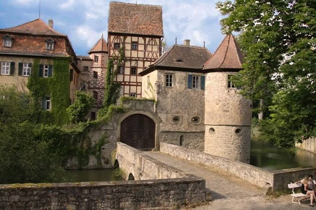 moated castle germany airbnb