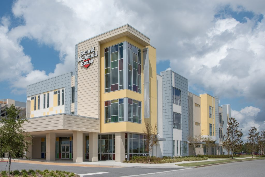 Orlando, FL, USA - September 22, 2017: Ronald McDonald House at Nemours Children's Hospital in Lake Nona, FL, External outside view