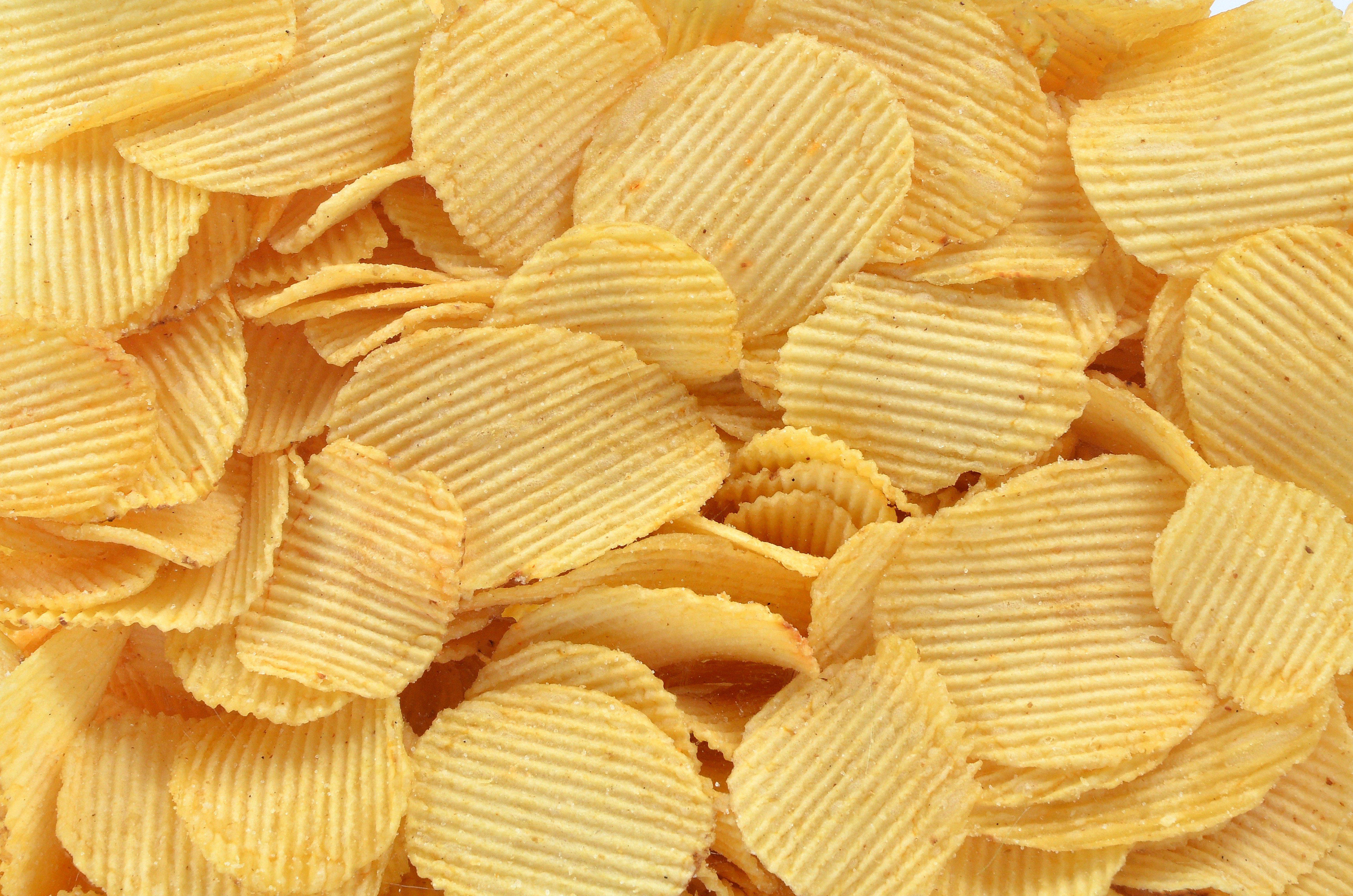 Potato chips ribbed