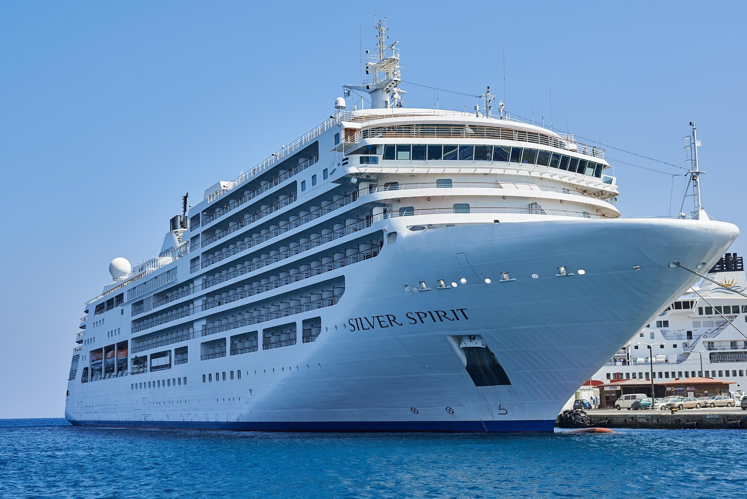 Rhodes Greece - September 1 2014: Silver Spirit Cruise Ship