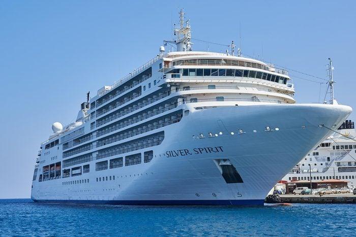 Rhodes Greece - September 1 2014: Silver Spirit Cruise Ship