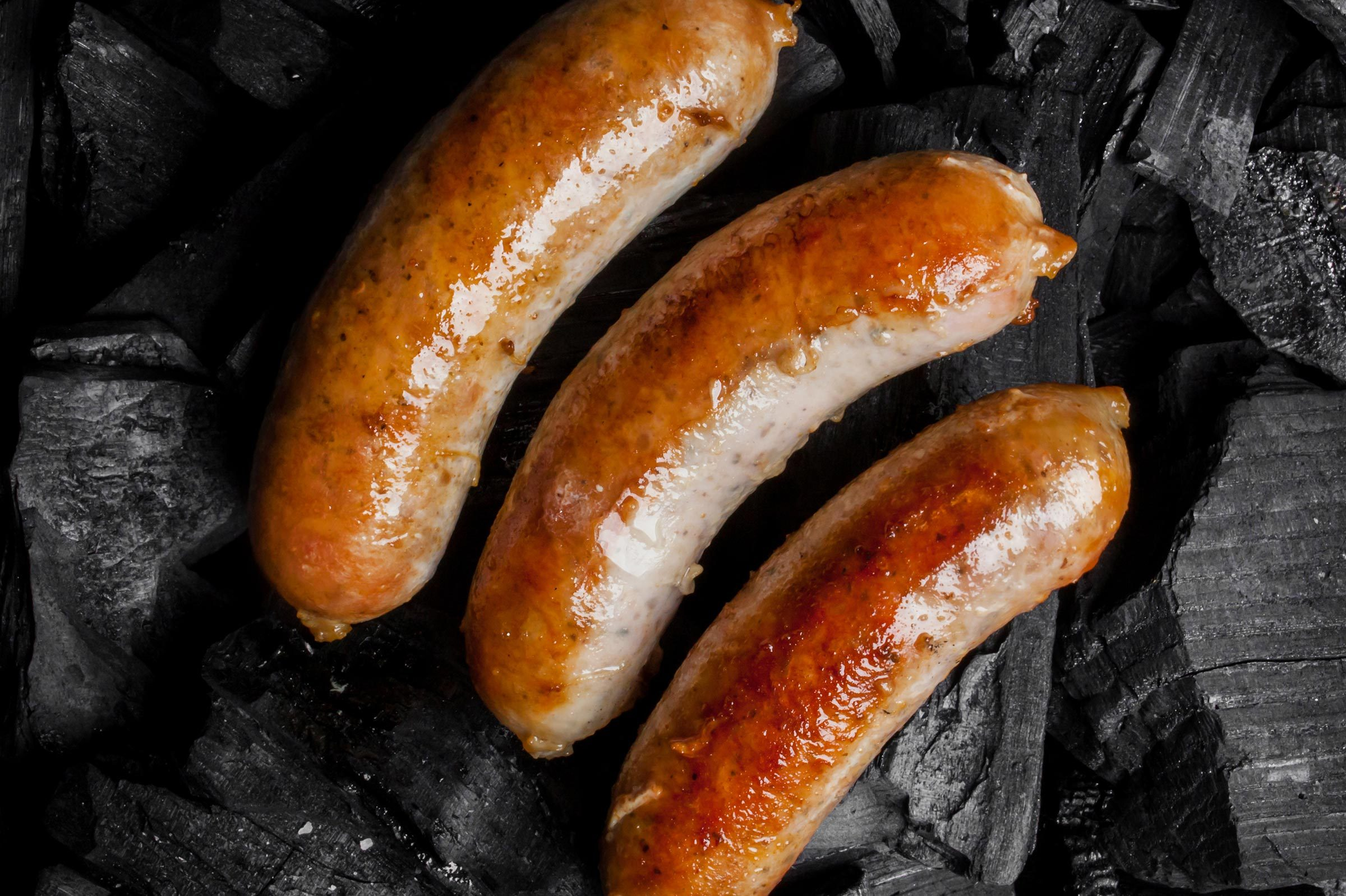sausage links close up