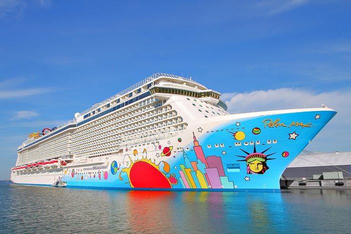 Cruise ship Norwegian Breakaway in Helsinki 19.07.2018