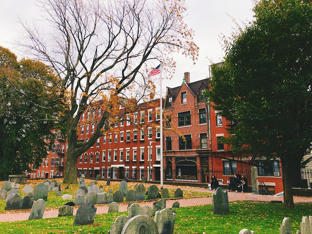 haunted Old Granary Burying Ground in Massachusetts is Boston's third-oldest cemetery