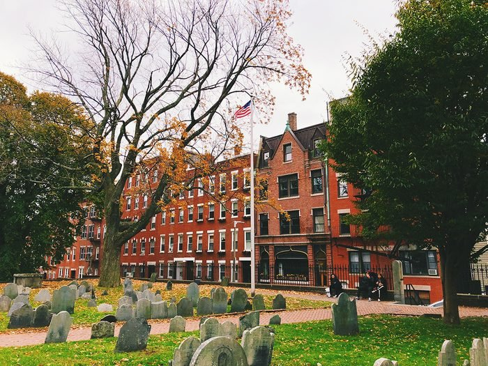 haunted Old Granary Burying Ground in Massachusetts is Boston's third-oldest cemetery