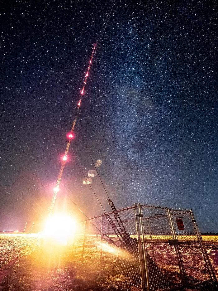 The Milky Way over the Tallest Structure in the Western Hemisphere, the KVLY TV Tower.