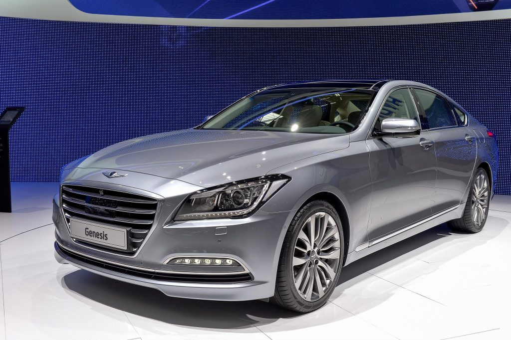 GENEVA, MAR 4: Hyundai Genesis displayed at the 84th International Motor Show International Motor Show in Geneva, Switzerland on March 4, 2014.