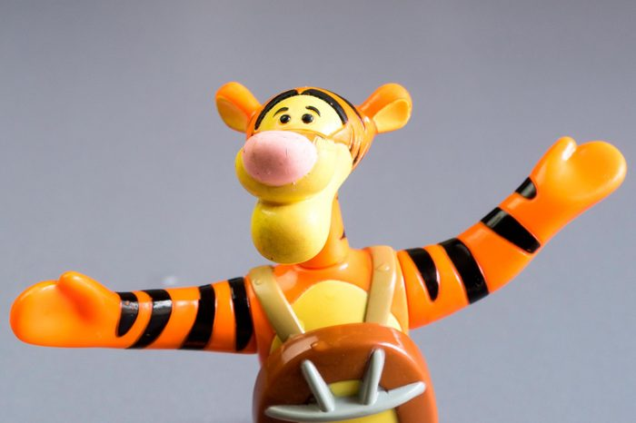 Kuala Lumpur, Malaysia - May 16, 2015: A studio shot of Tigger character figure. Tigger is a fictional tiger character originally introduced in A. A. Milnes book The House at Pooh Corner