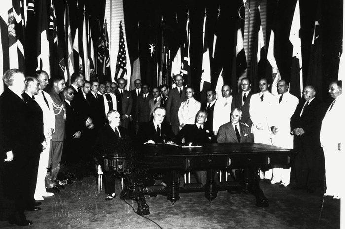 UNITED NATIONS SIGNING, WASHINGTON, USA