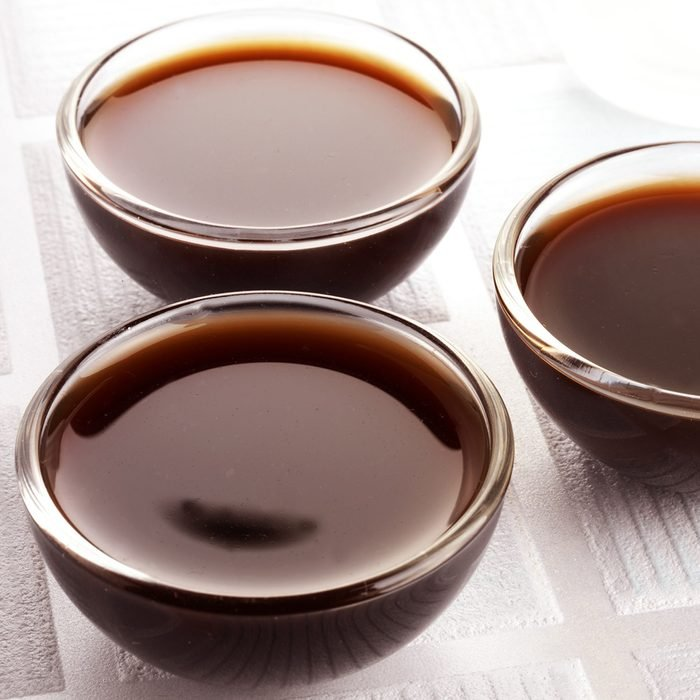 THREE GLASS BOWLS FILLED WITH WORCESTER SAUCE; Shutterstock ID 621760739