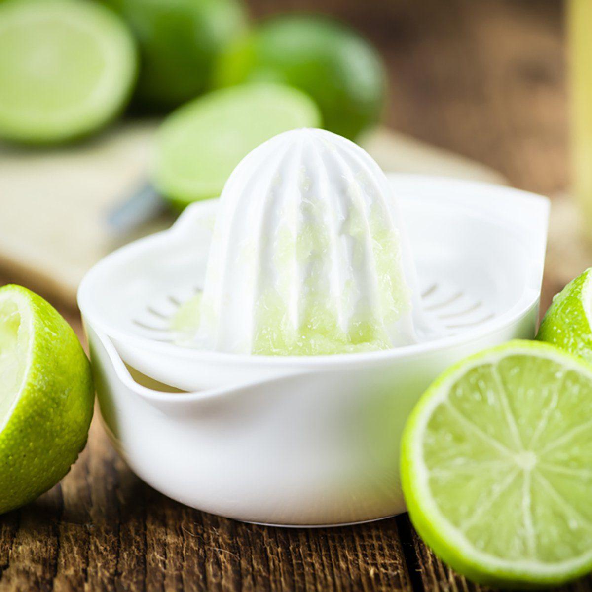 Lime Juice on a vintage background