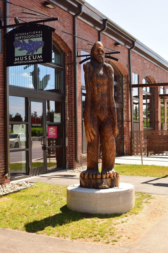 Sasquatch Statue at International Cryptozoology Museum, Portland, Maine, USA