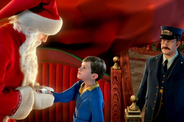 the polar express santa claus conductor young boy adventure christmas xmas movie animated adaptation