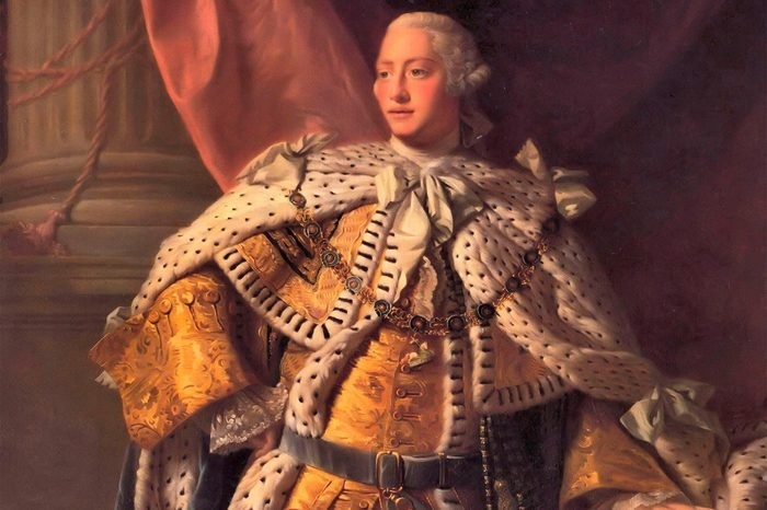 George III ((1738-1820) King of Great Britain from 1760. Portrait of 1767 from the studio of Alan Ramsay