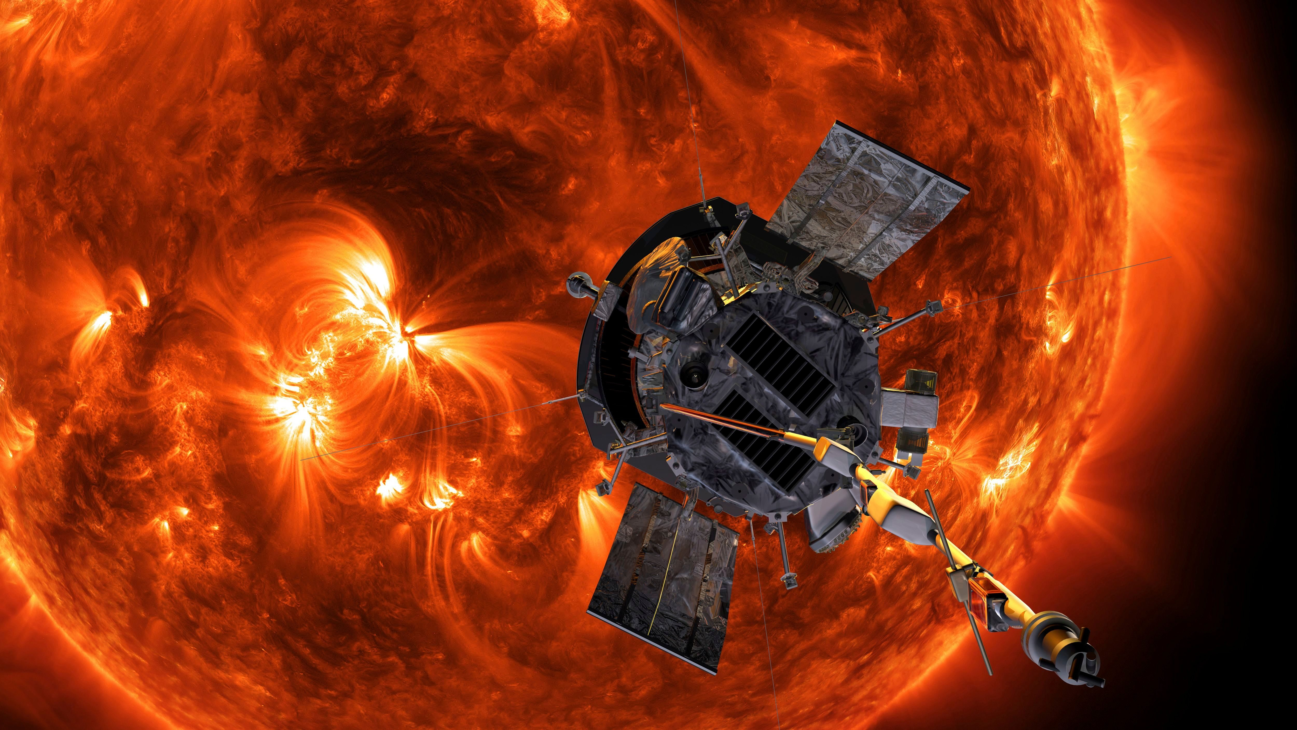 artist's rendering of the Parker Solar Probe