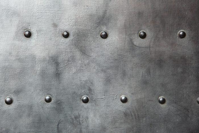 Texture of metal black steel