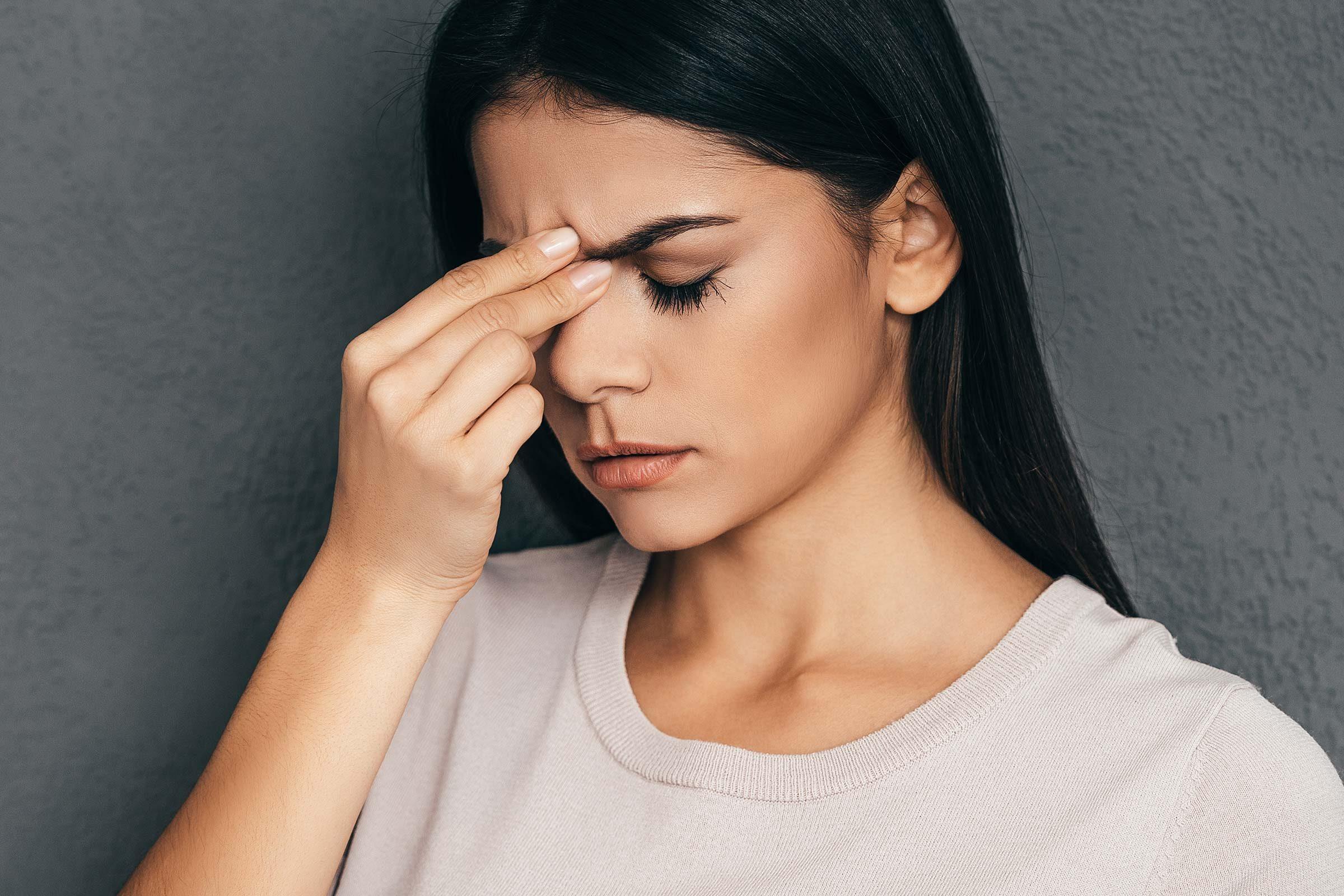 woman stress headache