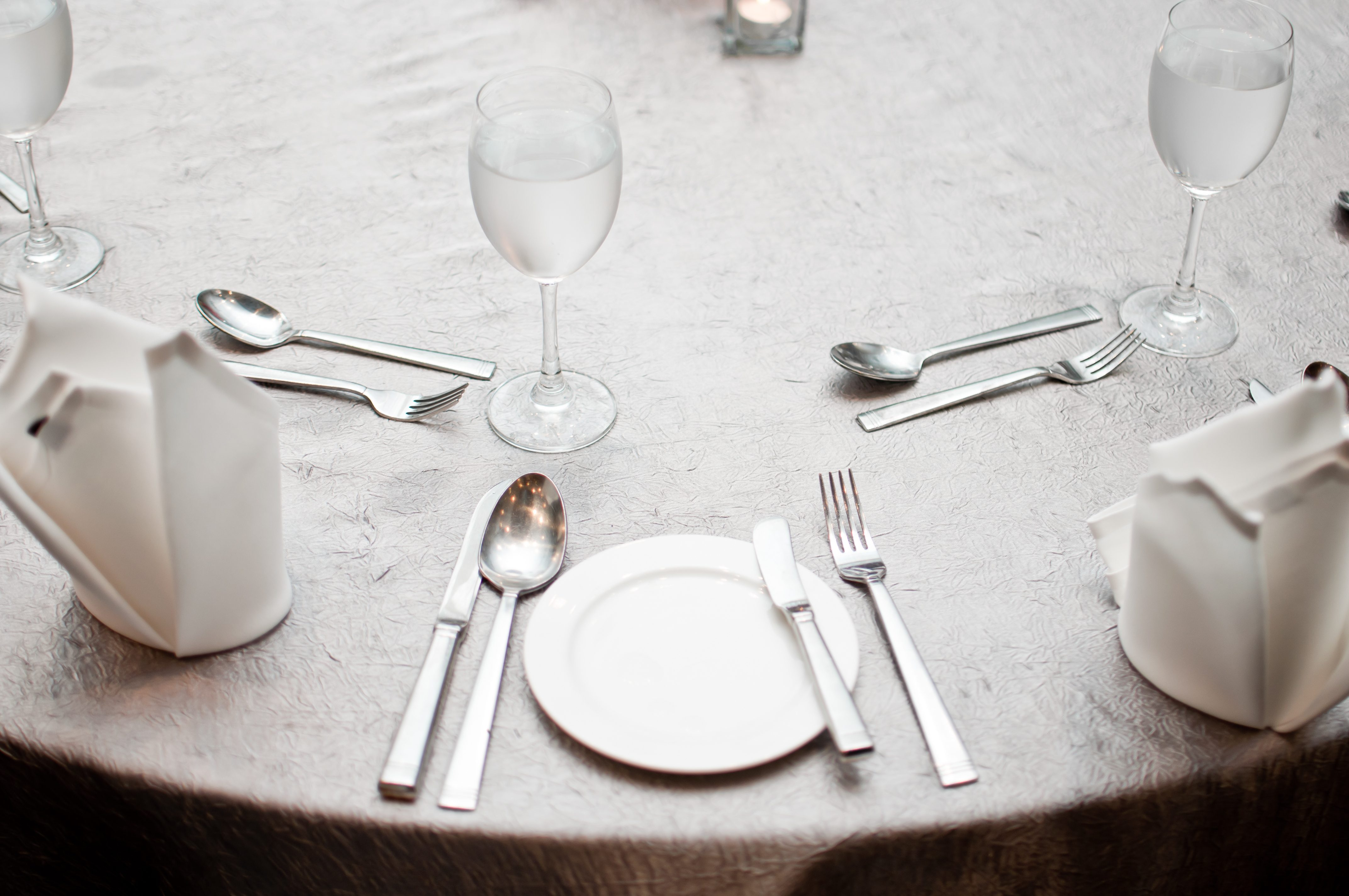 Luxury table setting for dining