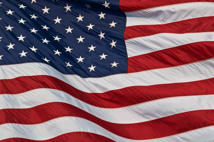 United States of America flag. Image of the american flag flying in the wind.