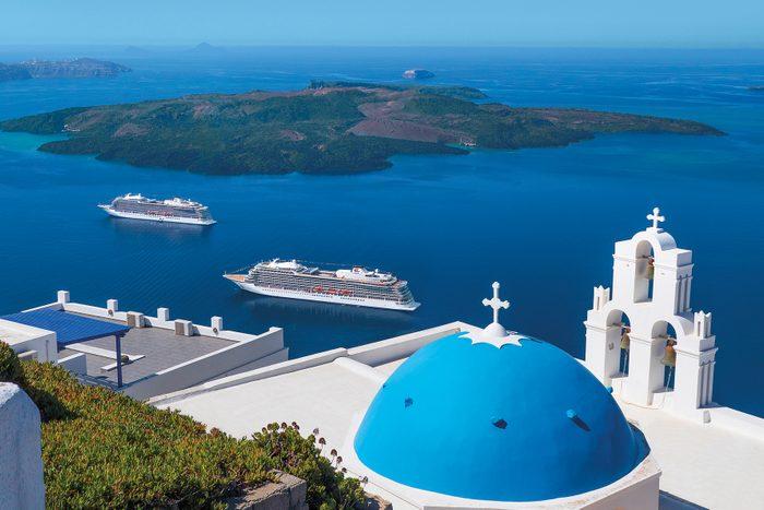 Viking Cruises In Santorini Greece